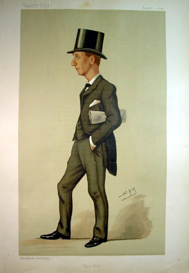 1890 Vanity Fair Print Of Herbert Asquith Future Prime