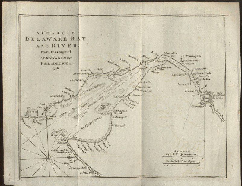 maps of delaware. quot;A Chart of Delaware Bay and
