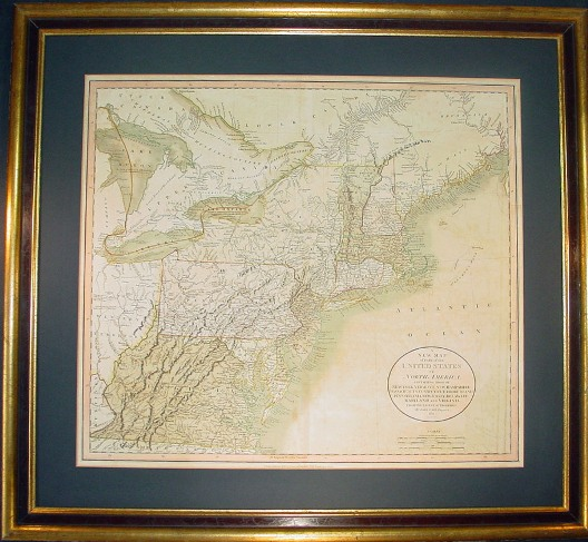 map of america states. Finely Detailed John Cary Map
