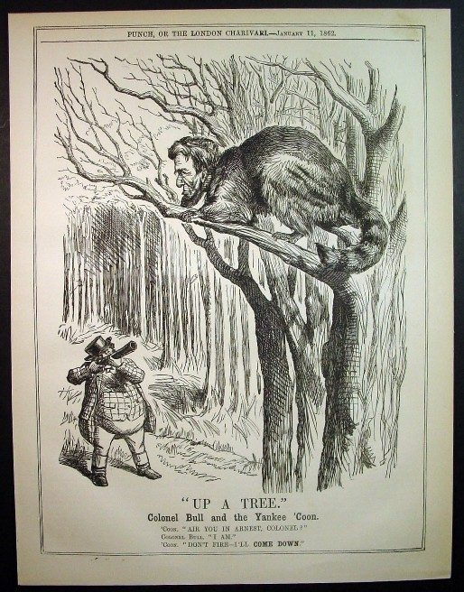 Abraham Lincoln Caricature Up A Tree By John Tenniel